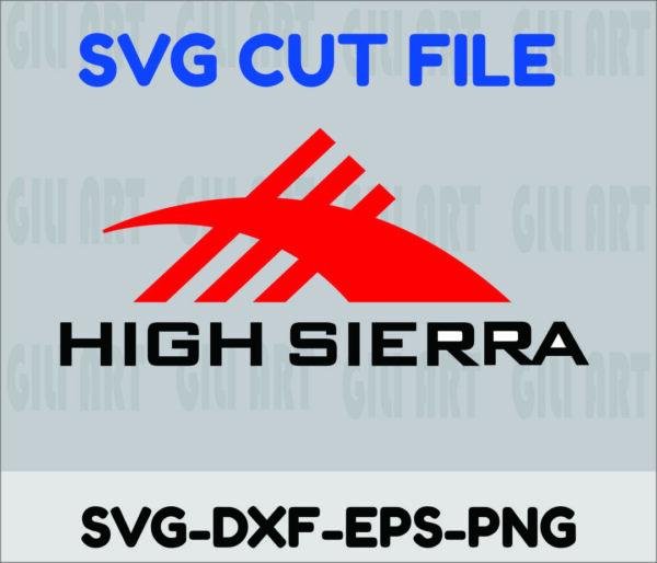 HIGH SIERRA 1 Vectorency HIGH SIERRA LOGO CUT FILE