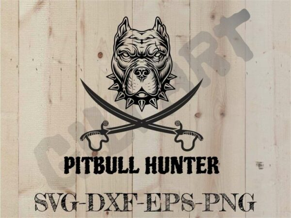 PITBULL HUNTER Vectorency PITBULL HUNTER SVG CUT FILE