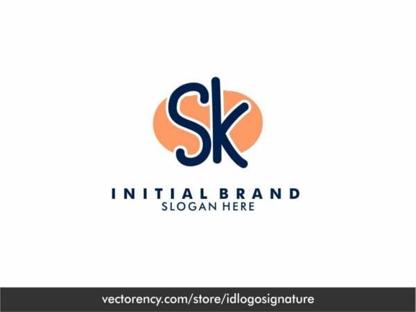 SK LOGO INITIAL BRAND