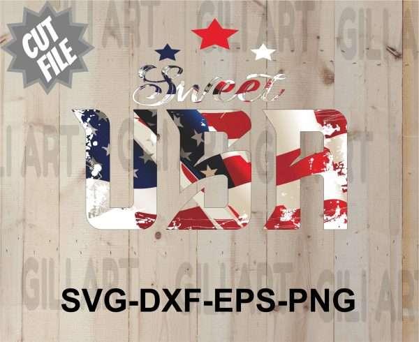 Sweet Usa11 Vectorency SWEET USA SVG FILE-TSHIRT DESIGN-SVG TSHIRT DESIGN