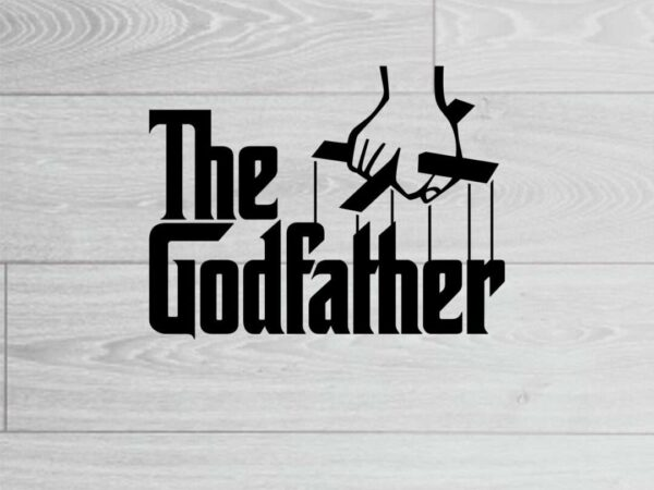 The GodFather SVG Cut File Vectorency The GodFather SVG-DXF-EPS File