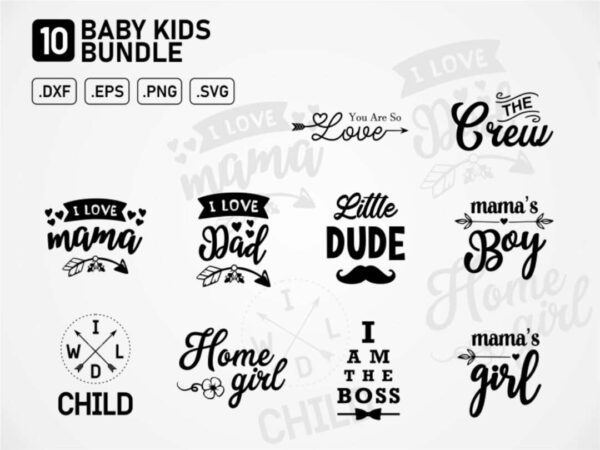 baby kids design t shirt bundle