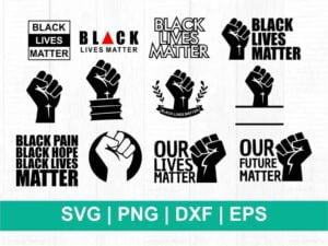 black lives matter svg bundle cricut
