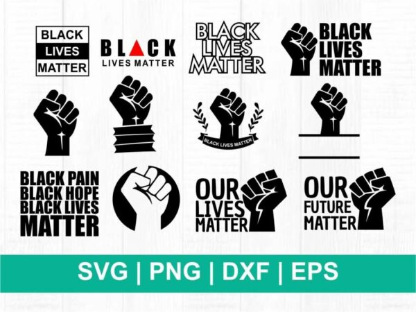 black lives matter svg bundle cricut