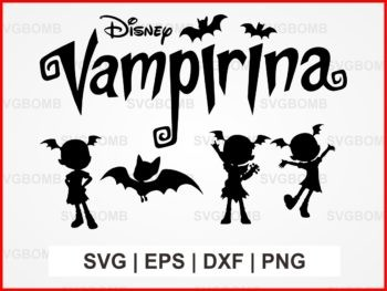 disney vampirina svg cut file bundle