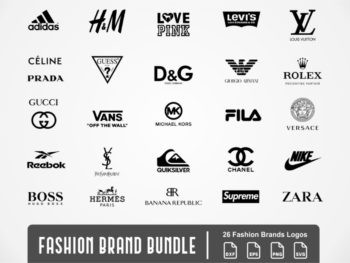 fashion brand bundle svg logo supreme ysl love pink