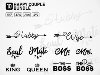 happy couple quotes bundle svg couple svg