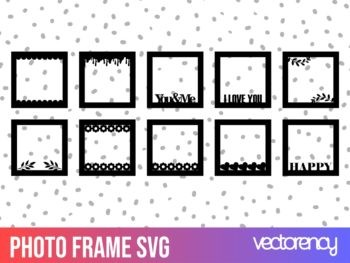 photo frame svg cut file