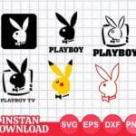 playboy logo svg cut file bunny