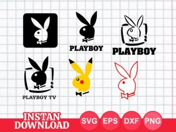 playboy logo svg cut file bunny