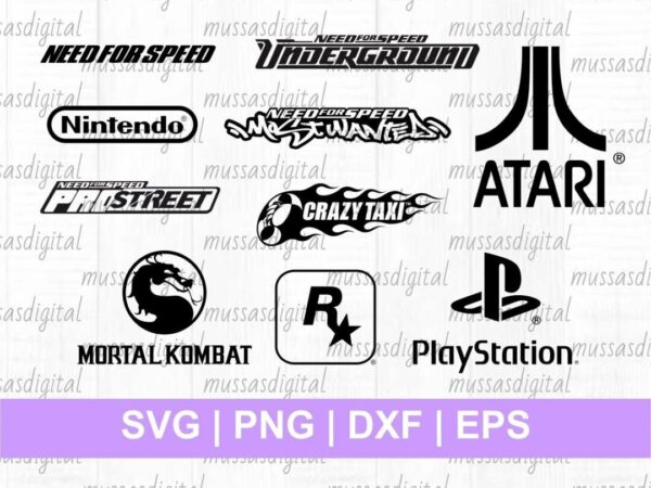 90s Gamer Logo SVG retro gaming