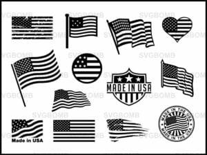 USA American Flag SVG Bundle