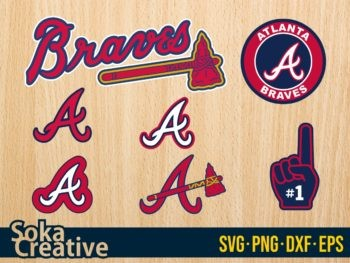 Atlanta Braves SVG Baseball Logo Cricut Cut File