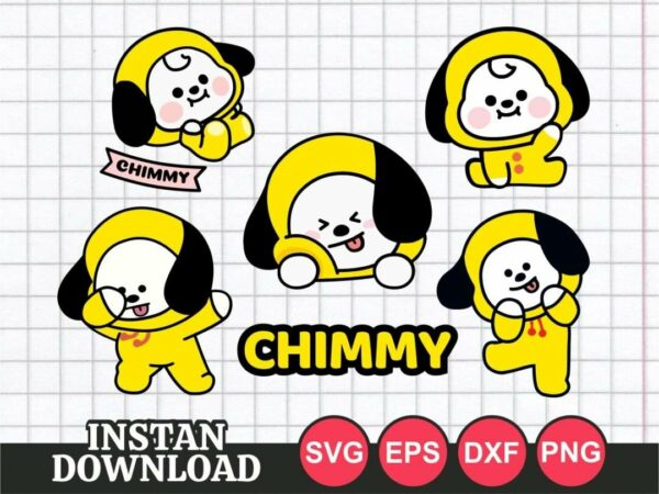BT21 Chimmy SVG cut file vector png