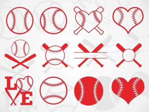 Baseball SVG Bundle Vectorency Baseball SVG Bundle Monogram