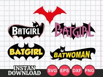 Batgirl Batwoman SVG Bundle