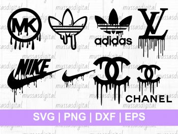Nike Logo Svg Painting Abstact Rainbow Bundle Vectorency