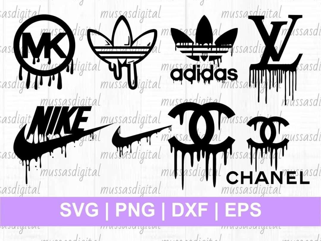 Brand Logo Drip Svg Cut File Vectorency