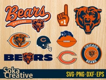 Chicago Bears SVG Bundle vector cricut