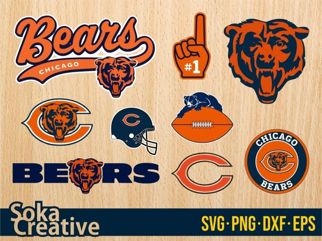 Chicago Bears Svg Png Eps Vector Bundle Vectorency