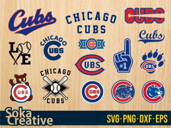 Chicago Cubs SVG bundle logo cricut