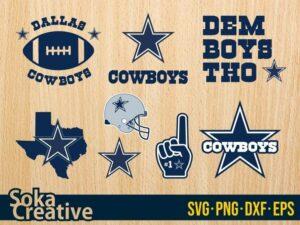 Dallas Cowboys SVG logo cut file symbol template