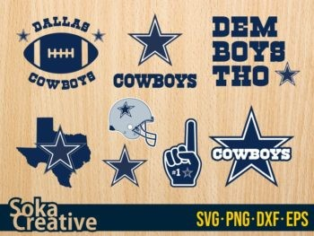 Dallas Cowboys SVG logo cut file symbol template