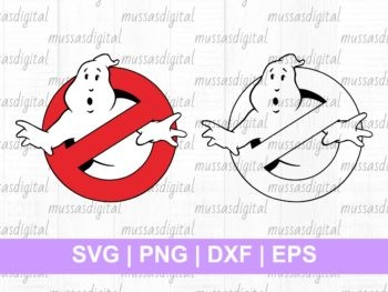 Cuttable Design Ghostbusters Logo SVG