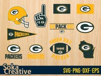 Green Bay Packers SVG cut file cricut football american