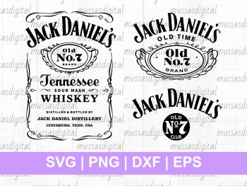 Jack Daniels SVG cut file labels tumbler