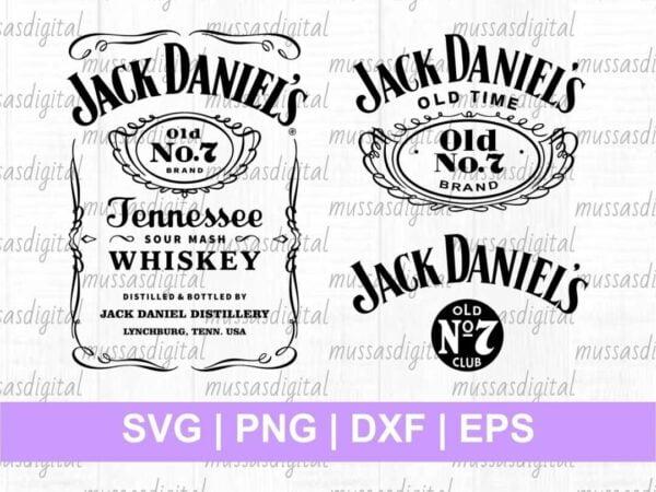 Jack Daniels SVG cut file labels tumbler