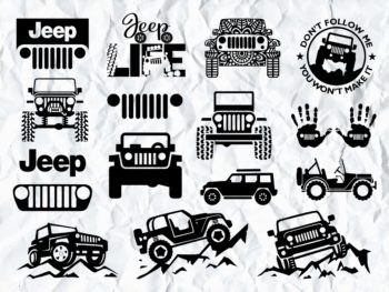 Jeep SVG PNG DXF Bundle jeep logo