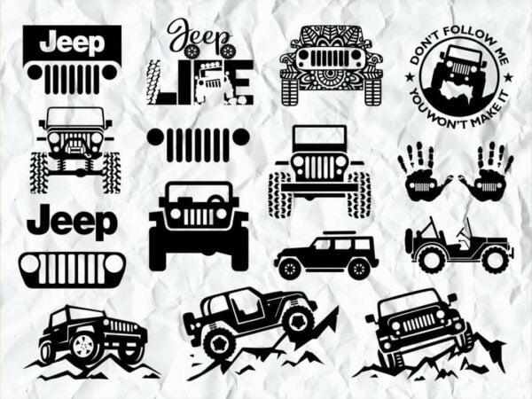 Jeep SVG PNG DXF Bundle jeep logo