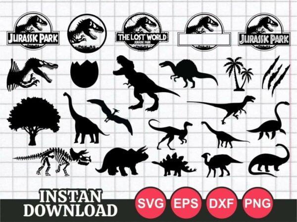 Jurassic Park SVG cut file cricut bundle