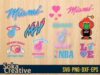 Miami Heat SVG cut file layered Bundle