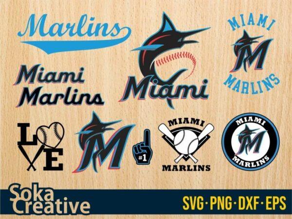 Miami Marlins svg Vectorency Miami Marlins SVG Bundle