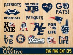 New England Patriots SVG Bundle logo eps vector