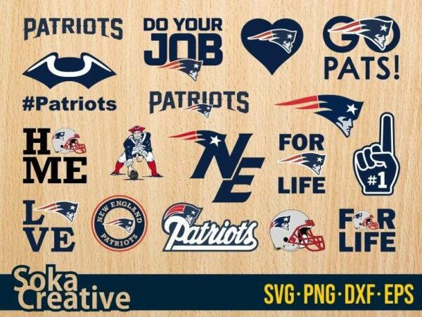 New England Patriots SVG Bundle logo eps vector