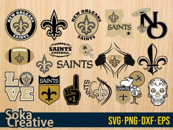 New Orleans Saints SVG cricut soka creative