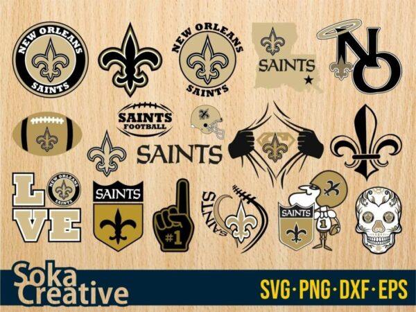 New Orleans Saints SVG cricut soka creative