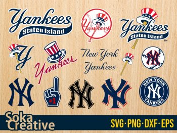 New York Yankees SVG Cut File Cricut Bundle