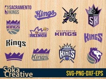 Sacramento Kings SVG Bundle NBA Basket Ball Team