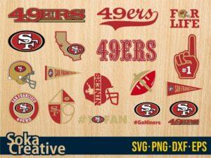 San Francisco 49ers svg bundle logo sf