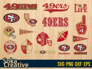 San Francisco 49ers svg bundle logo sf