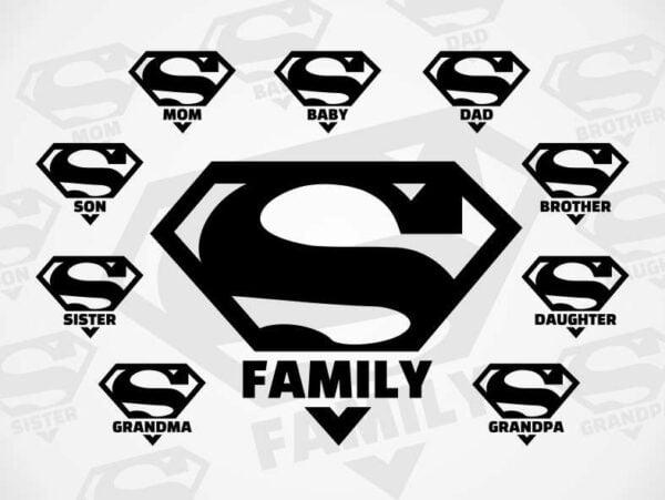 Superman Super Hero family SVG bundle