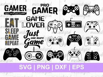 Video Game Controller SVG Cut File Cricut