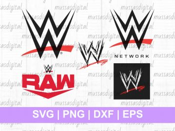 WWE Logo SVG Cut File Bundle