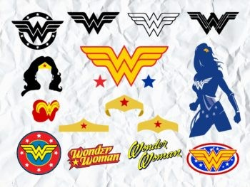 Wonder Woman SVG Bundle logo symbol cricut
