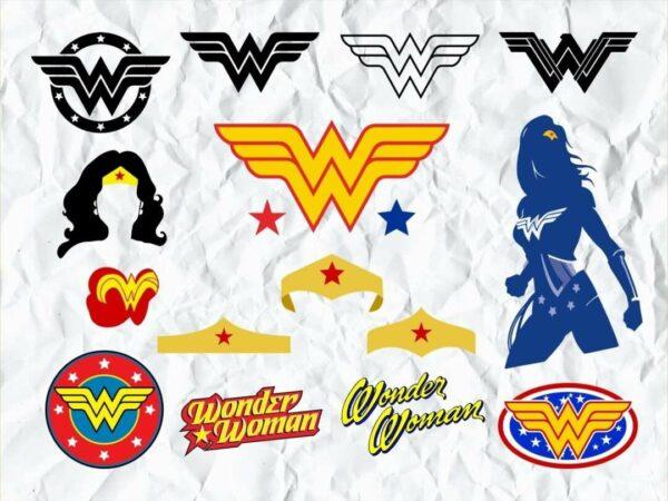 Wonder Woman SVG Bundle logo symbol cricut