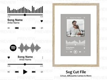 audio button music player svg cut file audio wave